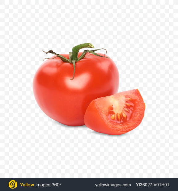 Download Tomato and Slice Transparent PNG on Yellow Images 360°
