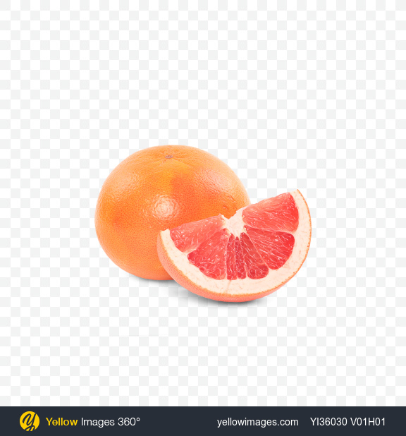 Download Grapefruit and Slice Transparent PNG on Yellow Images 360°