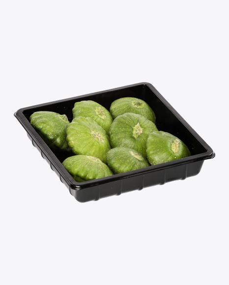Pattypan Squashes in Plastic Box