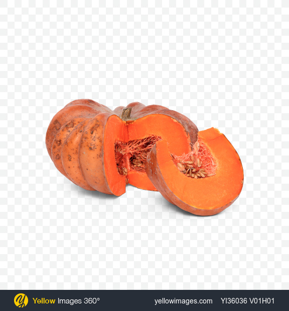 Download Sliced Pumpkin and Slice Transparent PNG on YELLOW Images