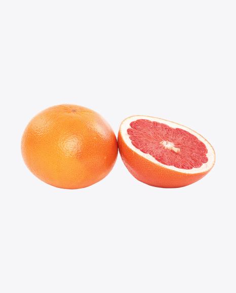 Grapefruit and Half