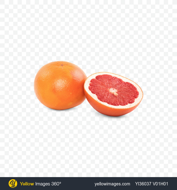 Download Grapefruit and Half Transparent PNG on Yellow Images 360°
