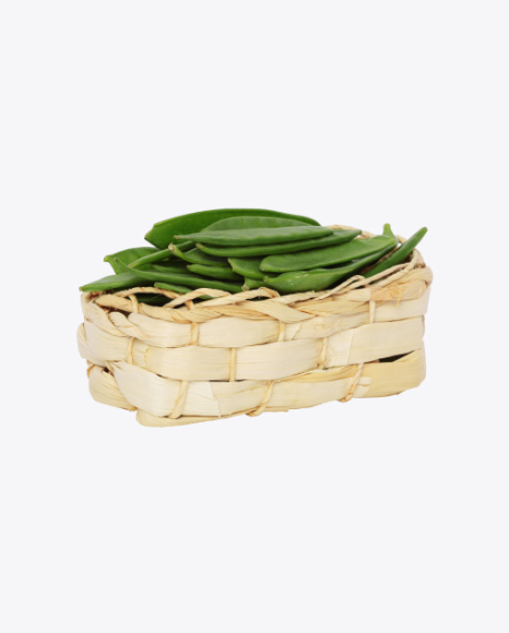 Snow Peas in Basket
