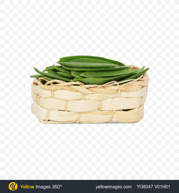 Download Snow Peas in Basket Transparent PNG on Yellow Images 360°