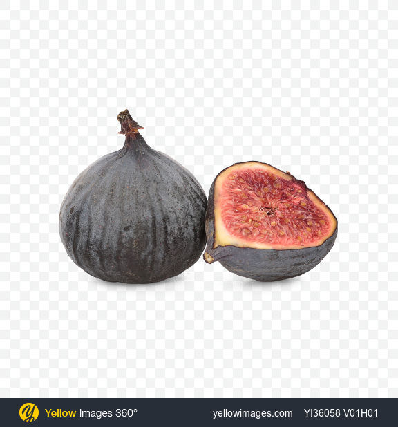Download Fig and Half Transparent PNG on Yellow Images 360°