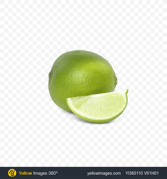 Download Lime and Slice Transparent PNG on Yellow Images 360°