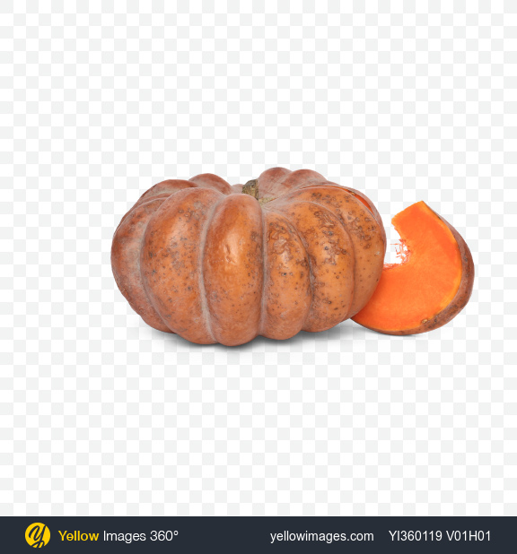 Download Sliced Pumpkin and Slice Transparent PNG on Yellow Images 360°