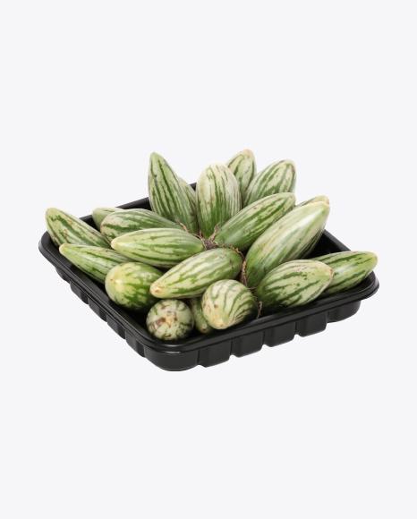 Mini Eggplants in Box