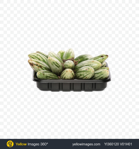 Download Mini Eggplants in Box Transparent PNG on Yellow Images 360°