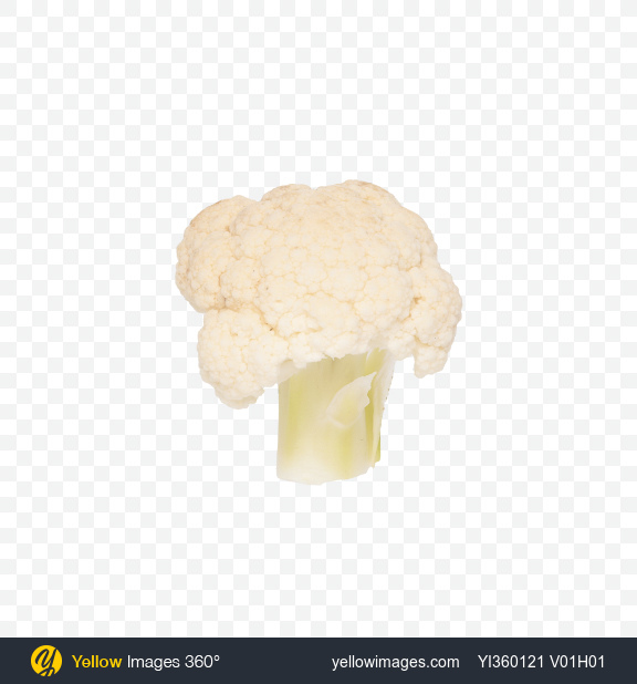 Download Cauliflower Transparent PNG on Yellow Images 360°