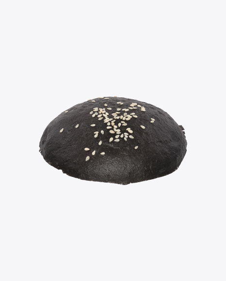 Black Burger Bun Top