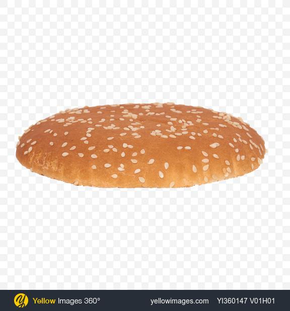 Download Burger Bun Top Transparent PNG on Yellow Images 360°