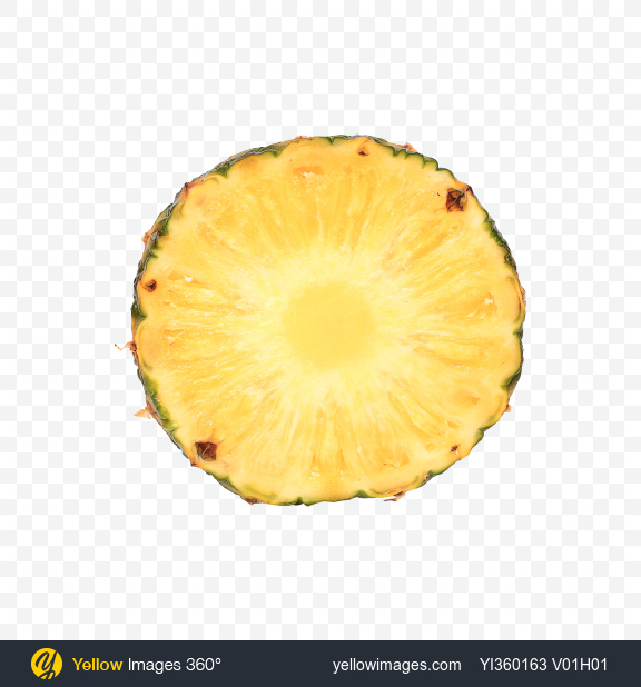 Download Pineapple Slice Transparent PNG on Yellow Images 360°