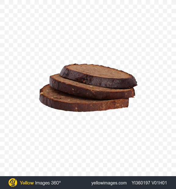 Download Sliced Rye Bread with Seeds and Carrots Transparent PNG on Yellow Images 360°