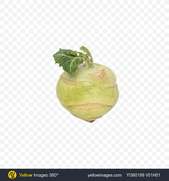 Download Kohlrabi Transparent PNG on Yellow Images 360°