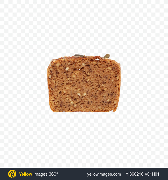 Download Slice of Bread with Seeds Transparent PNG on YELLOW Images