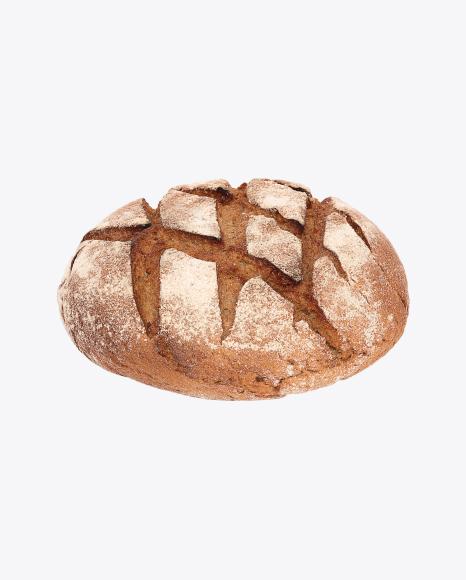Wheat-Rye Round Bread Loaf