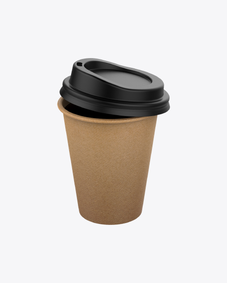 Small Craft Paper Coffee Cup with Lid