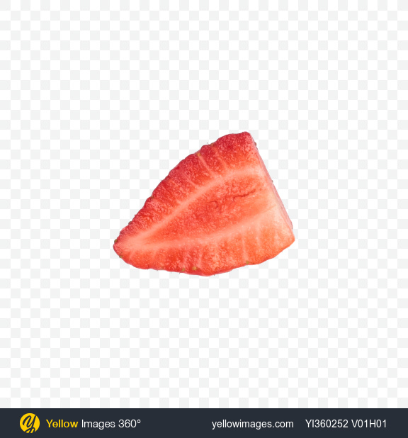 Download Strawberry Slice Transparent PNG on Yellow Images 360°