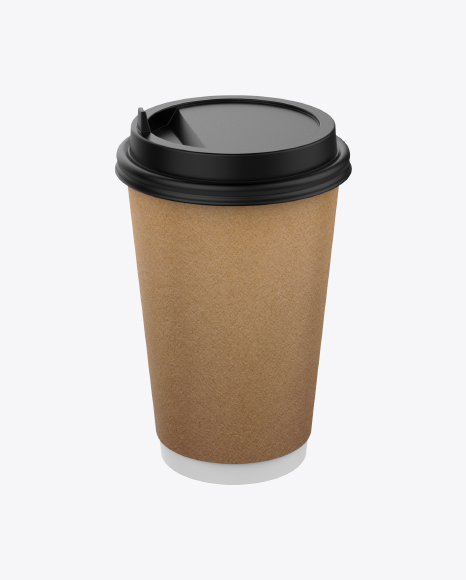 Big Craft Paper Coffee Cup