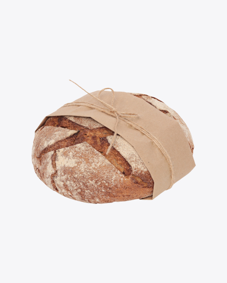 Bread Loaf Wrapped in Paper