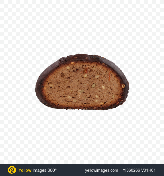 Download Slice of Rye Bread with Seeds and Carrots Transparent PNG on Yellow Images 360°