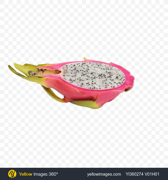 Download Half of Pitahaya Transparent PNG on Yellow Images 360°