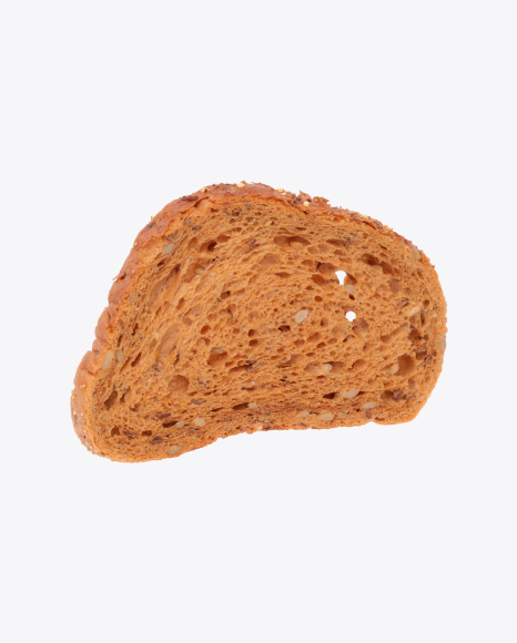 Slice of Wheat-Rye Bread with Seeds