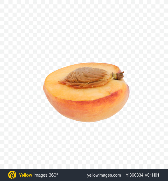 Download Half of Peach Transparent PNG on Yellow Images 360°