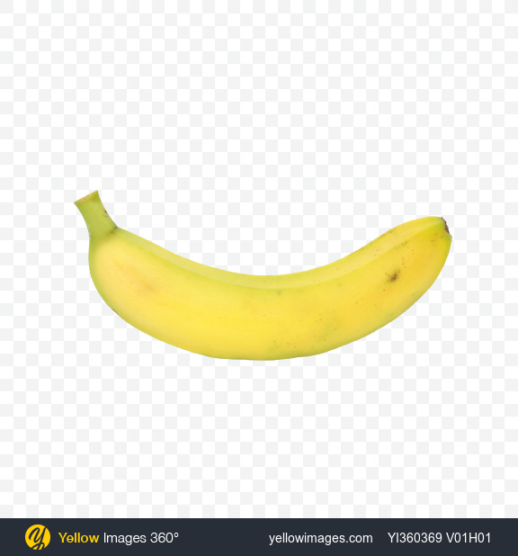 Download Unripe Banana Transparent PNG on Yellow Images 360°