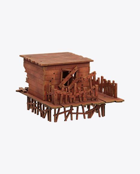 Big Wooden House Model