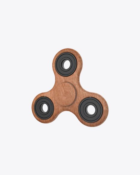 Wooden Fidget Tri-Spinner