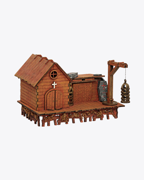 Church with Cages and Coffins Model