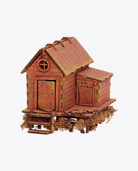 Barn with Outdoor Toilet Model