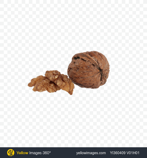 Download Walnuts and Shell Transparent PNG on Yellow Images 360°