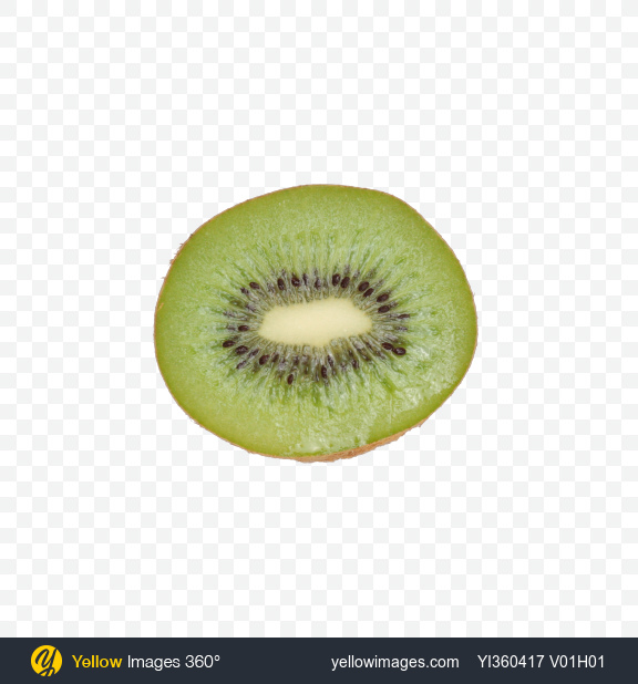 Download Half of Kiwi Fruit Transparent PNG on Yellow Images 360°