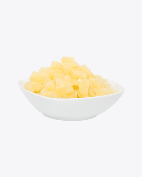 Pineapple Pieces in Bowl