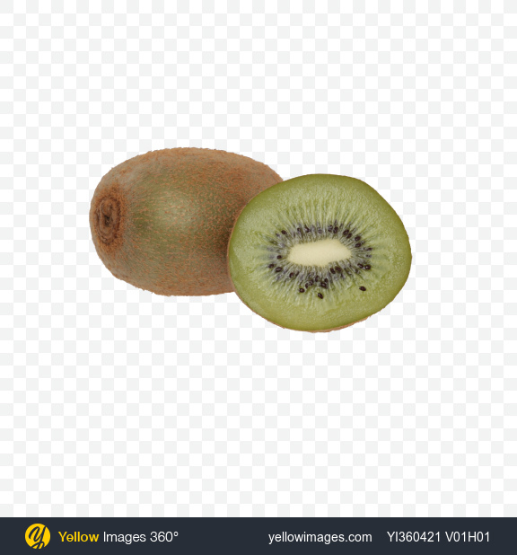 Download Kiwi Fruit and Half Transparent PNG on Yellow Images 360°