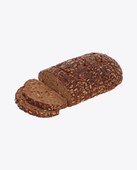 Sliced Loaf of Rye Bread with Seeds