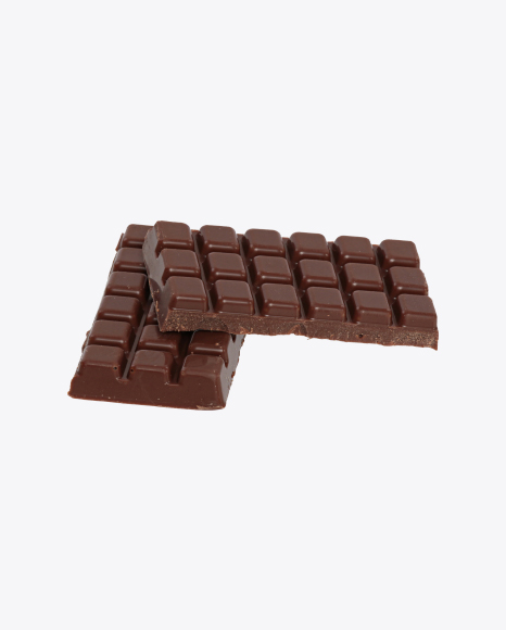 Two Milk Chocolate Bar Pieces
