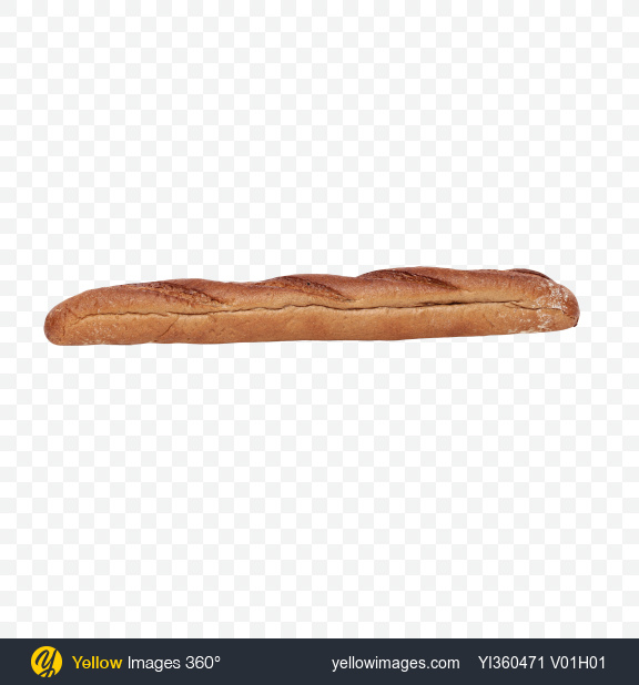 Download Rye-Wheat Baguette Transparent PNG on Yellow Images 360°