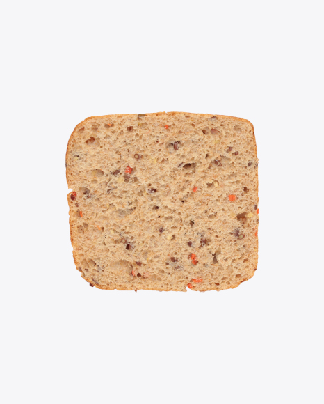 Bread Slice with Seeds and Vegetables