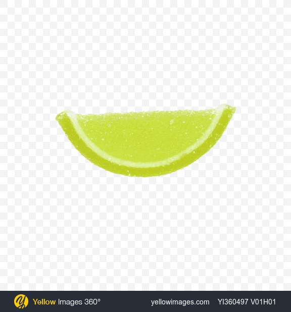 Download Lime Jelly Fruit Slice Transparent PNG on Yellow Images 360°