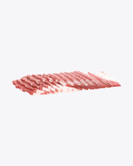 Raw Bacon Slices