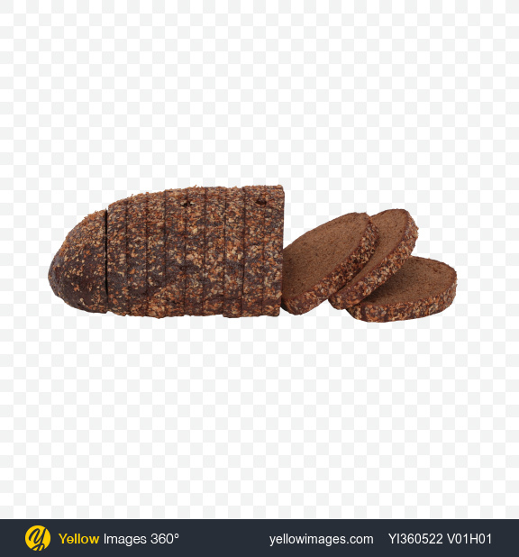 Download Slices of Rye Bread Transparent PNG on Yellow Images 360°