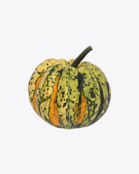 Green with Yellow Pumpkin