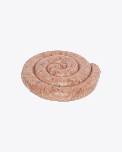 Raw Spiral Pork Sausage