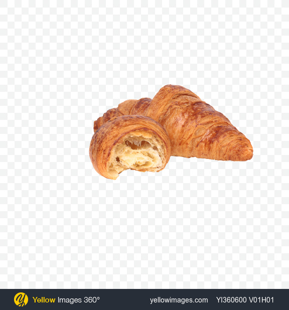 Download Croissant and Half Transparent PNG on Yellow Images 360°