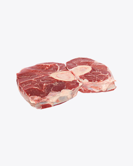 Two Sliced Beef Shins on the Bones