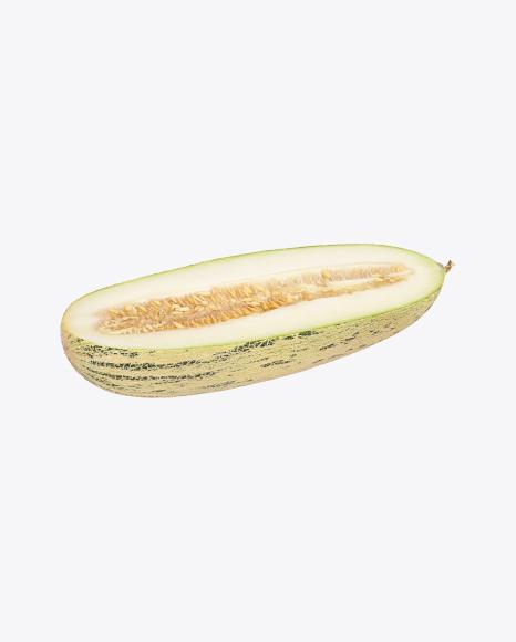 Torpedo Melon Cut in Half